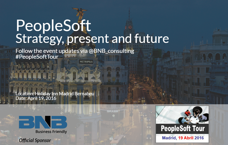 BNB is a sponsor of PeopleSoft Tour 2016