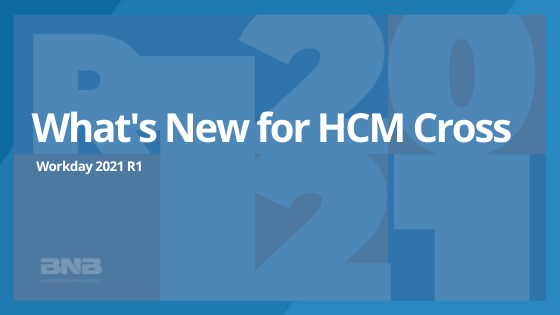 What's New for WD 2021 R1: HCM Cross