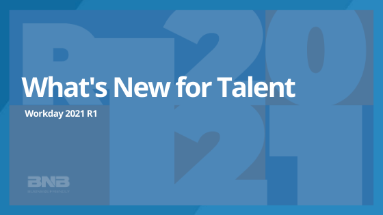 What's new for WD 2021 R1: Talent