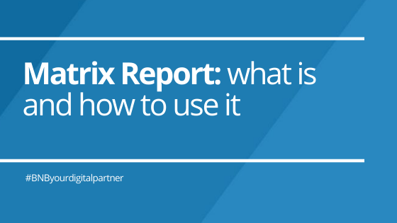 Matrix Report: what is and how to use it