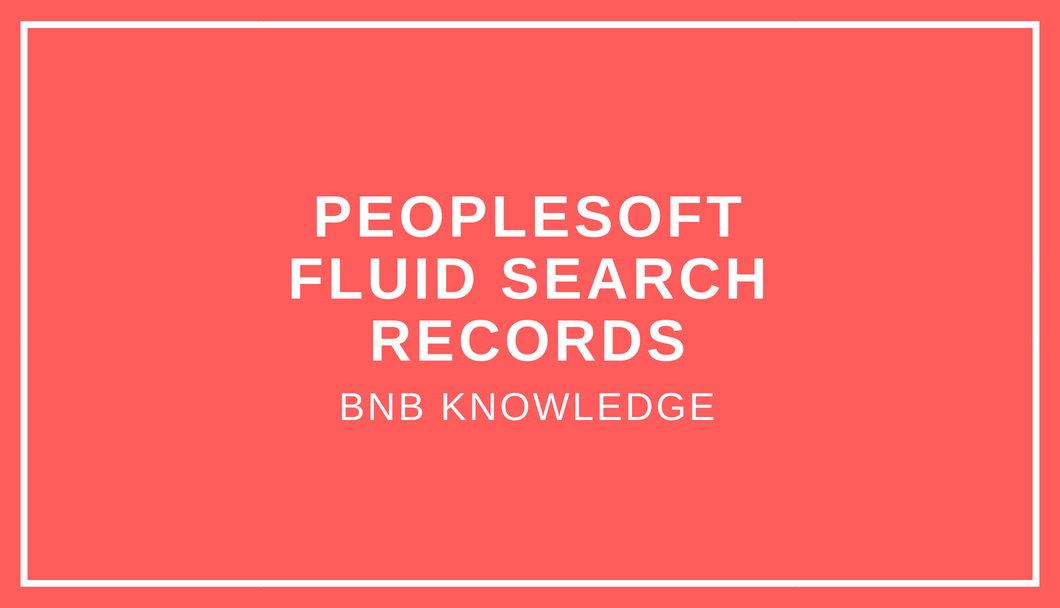 Fluid search records