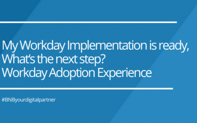 My Workday Implementation is ready, What's the next step?  Workday Adoption Experience