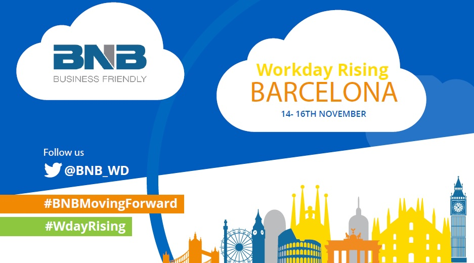BNB, sponsor of  Workday Rising Europe – 2017