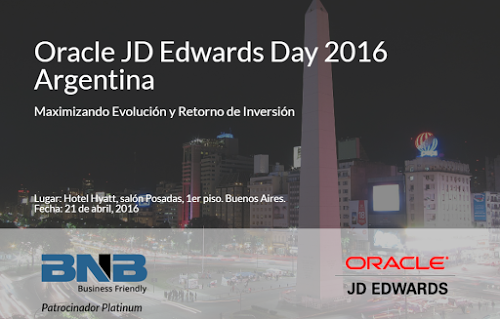 BNB patrocinador platinum Oracle JD Edwards Day 2016 Argentina