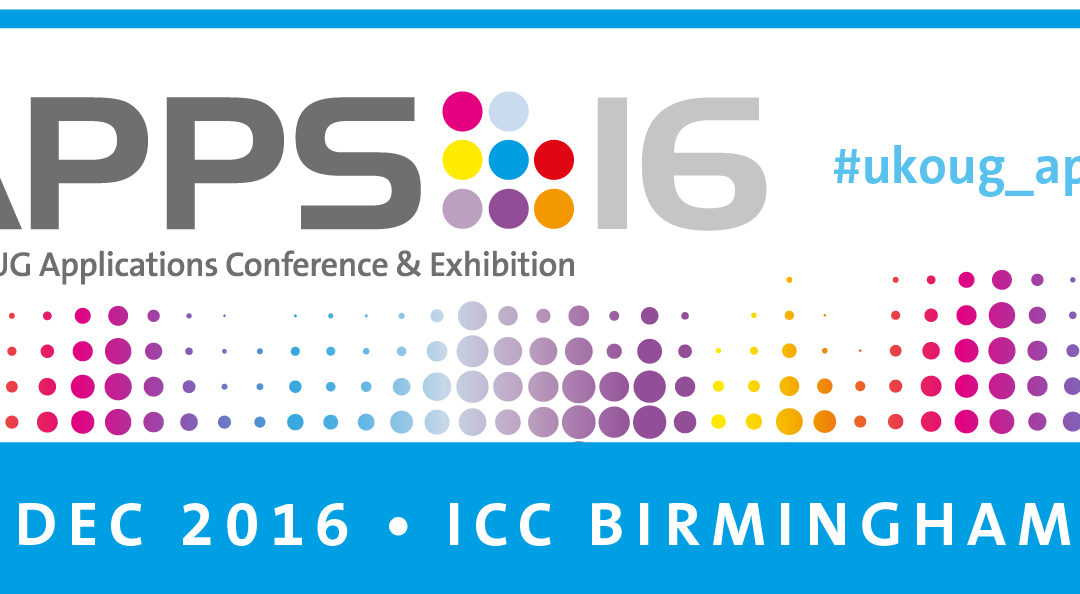 UKOUG Apps Conference 2016